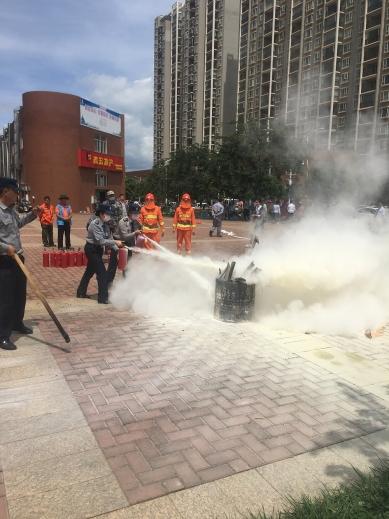 临沧消防演练